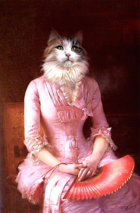 Portrait de chat Norvégien de artiste Daniel trammer