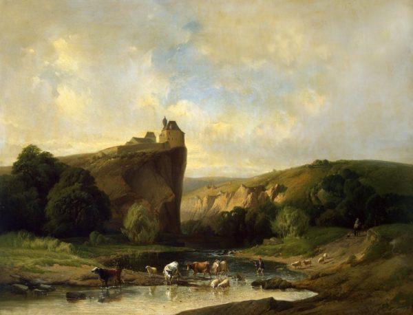 Paysage du sud à l'ancienne oeuvre de Daniel Trammer