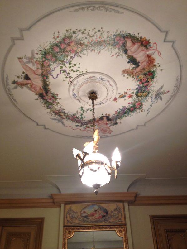 fresque de plafond artiste peintre Daniel Trammer art