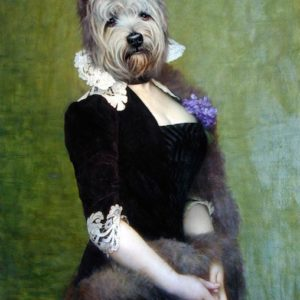 Portrait de chien Westie en baronne