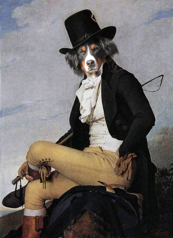portrait de Berger en cavalier de artiste Daniel trammer