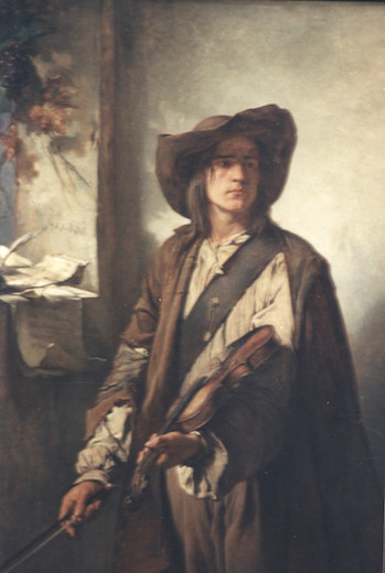 Le violoniste le saltimbanque oeuvre de Daniel Trammer