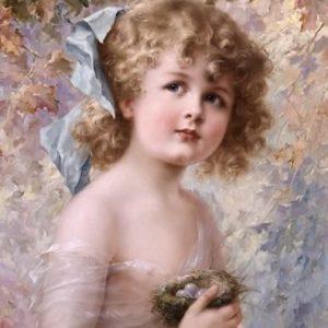 La petite fille au nid oeuvre de Daniel Trammer