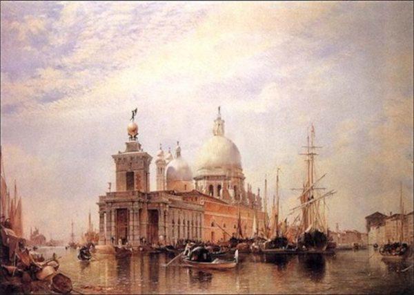Le grand canal de Venise oeuvre de Daniel Trammer