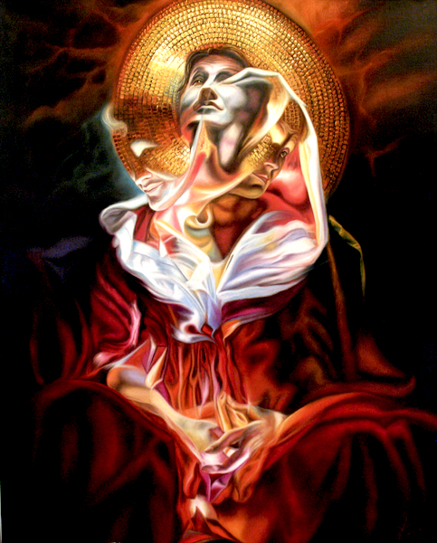 Portrait de la méditation Daniel Trammer 60x90 Cm