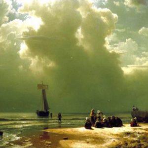 Le débarquement bord de mer oeuvre de daniel trammer